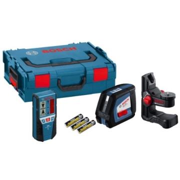 Bosch Kreuzlinienlaser GLL 2-50 Professional, inkl. Universalhalterung BM 1 Professional + Laser-Empfänger LR 2 + L-Boxx - 1