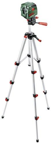 Bosch PCL 10 Set Kreuzlinien-Laser + Stativ + Schutztasche (10 m Arbeitsbereich) - 1
