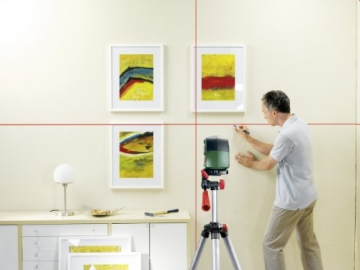 Bosch PCL 10 Set Kreuzlinien-Laser + Stativ + Schutztasche (10 m Arbeitsbereich) - 2