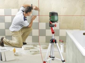 Bosch PCL 10 Set Kreuzlinien-Laser + Stativ + Schutztasche (10 m Arbeitsbereich) - 3