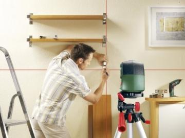Bosch PCL 10 Set Kreuzlinien-Laser + Stativ + Schutztasche (10 m Arbeitsbereich) - 4