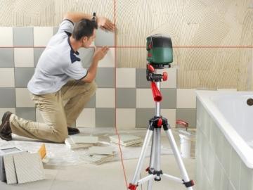 Bosch PCL 10 Set Kreuzlinien-Laser + Stativ + Schutztasche (10 m Arbeitsbereich) - 5
