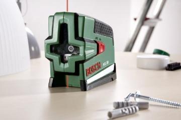 Bosch PCL 20 Kreuzlinien-Laser + Schutztasche + Wandhalterung (10 m Arbeitsbereich, Lotfunktion) - 3