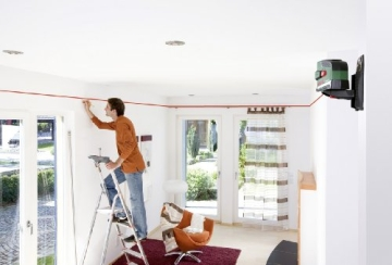 Bosch PCL 20 Kreuzlinien-Laser + Schutztasche + Wandhalterung (10 m Arbeitsbereich, Lotfunktion) - 4
