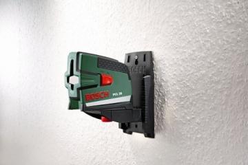 Bosch PCL 20 Kreuzlinien-Laser + Schutztasche + Wandhalterung (10 m Arbeitsbereich, Lotfunktion) - 5