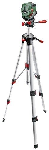 Bosch PCL 20 Set Kreuzlinien-Laser + Stativ + Schutztasche + Wandhalterung (10 m Arbeitsbereich, Lotfunktion) - 1