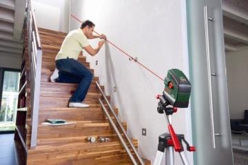 Bosch PCL 20 Set Kreuzlinien-Laser + Stativ + Schutztasche + Wandhalterung (10 m Arbeitsbereich, Lotfunktion) - 5