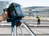 Bosch Professional GRL 500 HV und LR 50, Durchmesser 500 m, Arbeitsbereich mit Empfänger, Halterung, Schutztasche, Schnelllader, Transportkoffer, 0601061B00 - 1