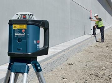 Bosch Professional GRL 500 HV und LR 50, Durchmesser 500 m, Arbeitsbereich mit Empfänger, Halterung, Schutztasche, Schnelllader, Transportkoffer, 0601061B00 - 2