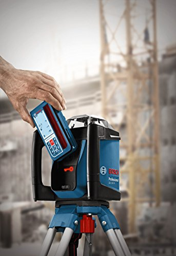 Bosch Professional GRL 500 HV und LR 50, Durchmesser 500 m, Arbeitsbereich mit Empfänger, Halterung, Schutztasche, Schnelllader, Transportkoffer, 0601061B00 - 3
